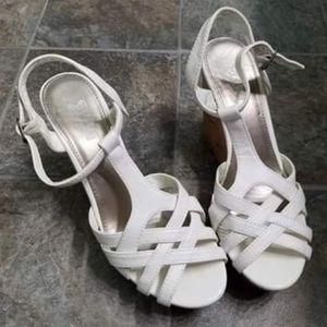 Brash 4 and a half inch heel wedge sandles